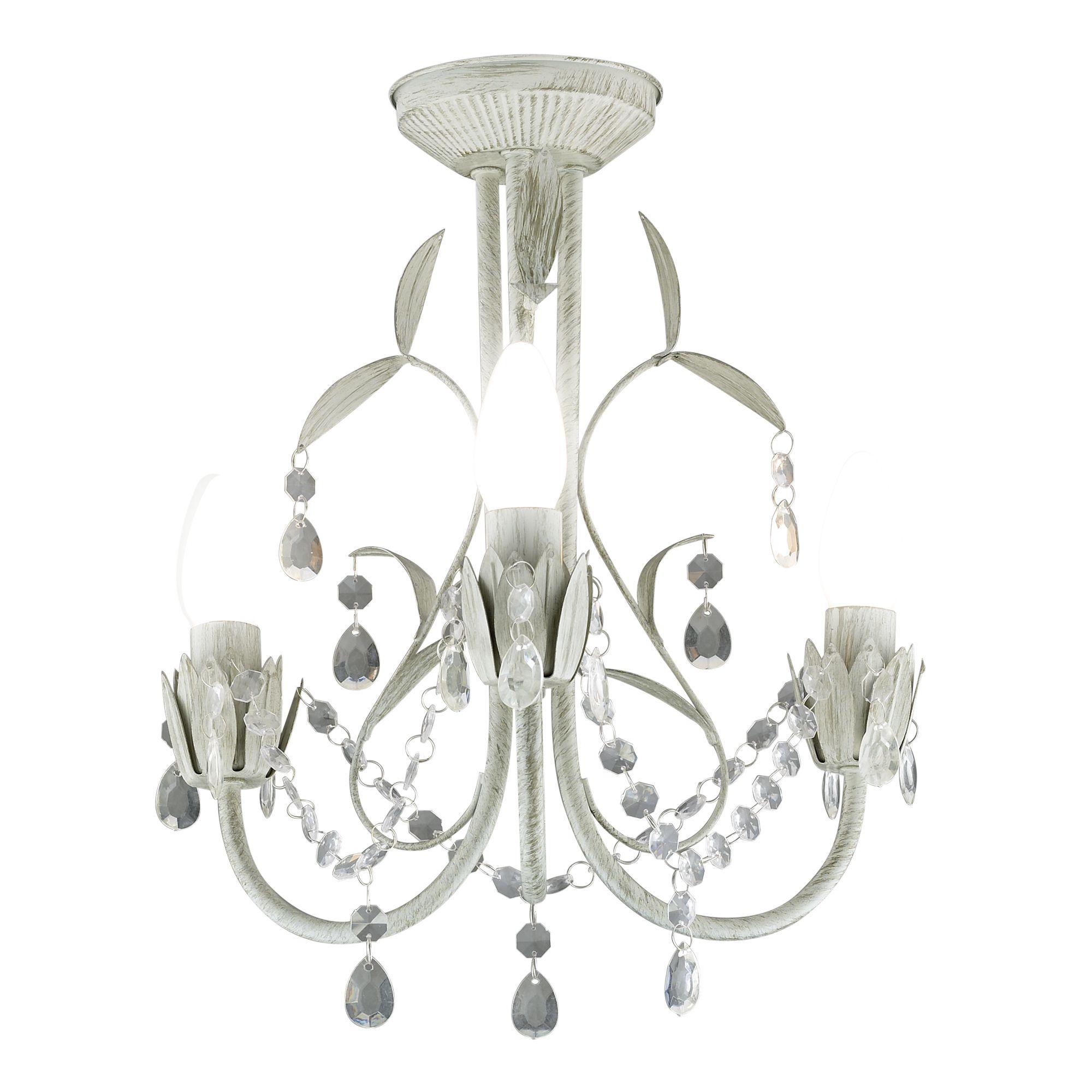 Odelia White 3 Lamp Ceiling Light | Departments | DIY at B&Q