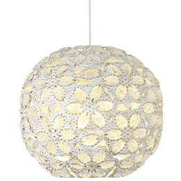 Avril Cream Beaded Light Shade (D)25cm