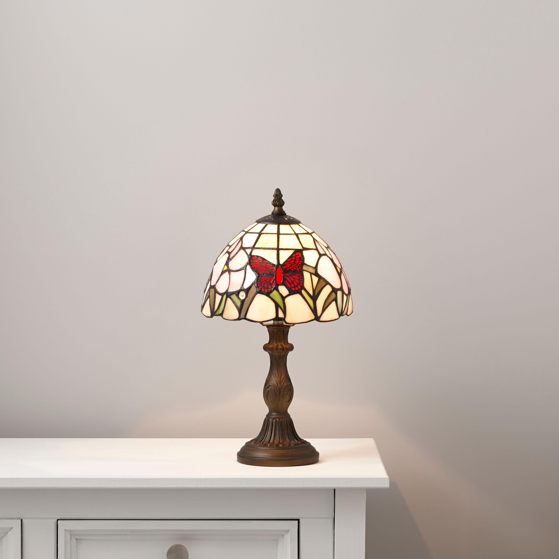 Ailsa Multicolour Antique Bronze Effect Table Lamp