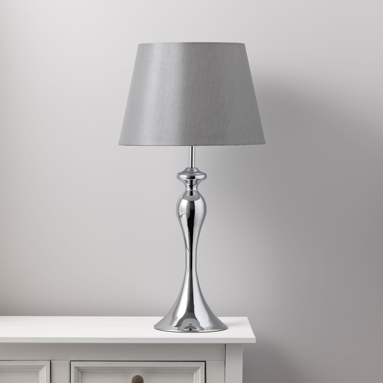 Samantha Grey Chrome Effect Table Lamp