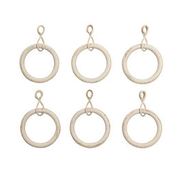 Colours Cream Metal Curtain Ring (Dia)19mm, Pack of