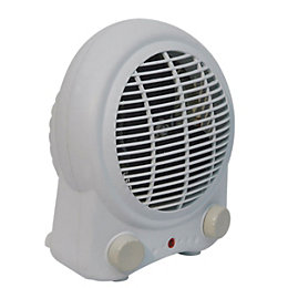 B&Q Electric 2000W White Fan Heater