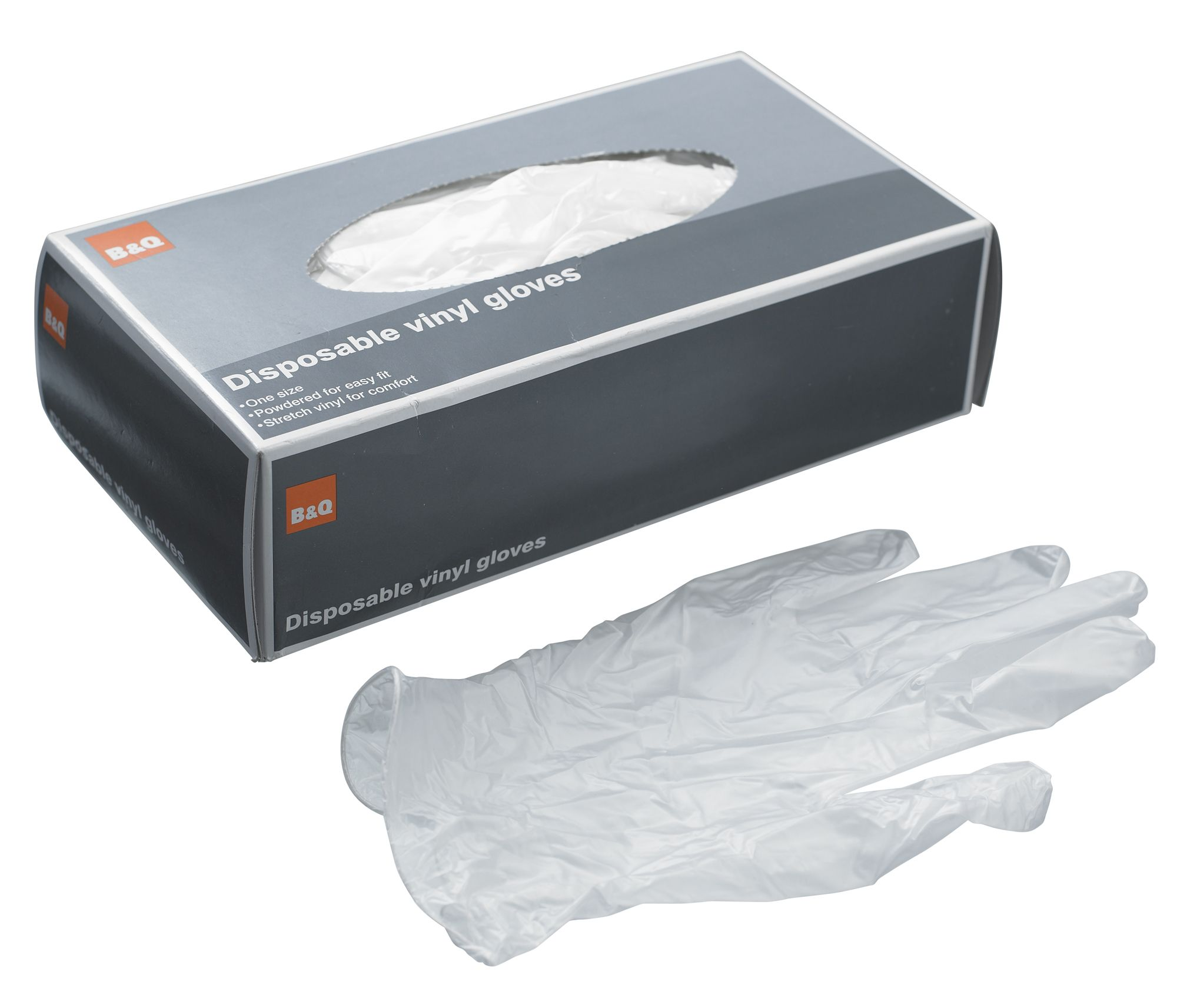 B q disposable gloves pack of 100 departments diy at b q for Diy plastic gloves