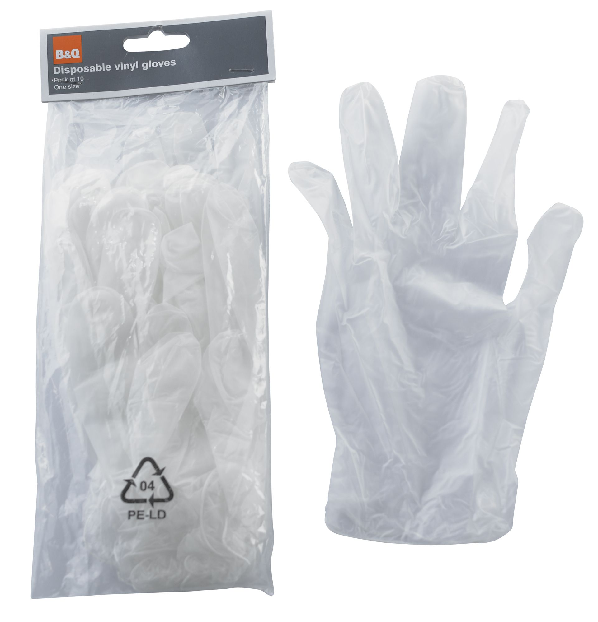 B q disposable gloves departments diy at b q for Diy plastic gloves