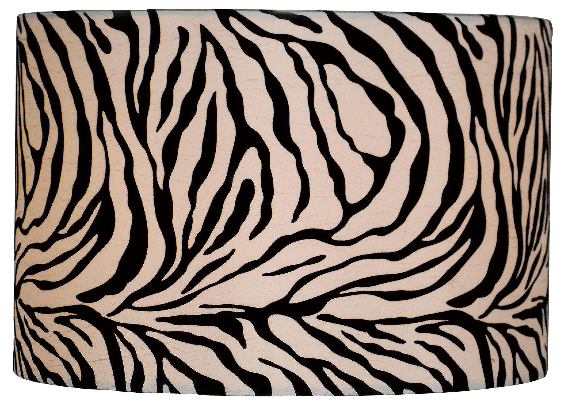 Colours Juno Black & White Zebra Print Light Shade (D)116mm Departments DIY at B&Q