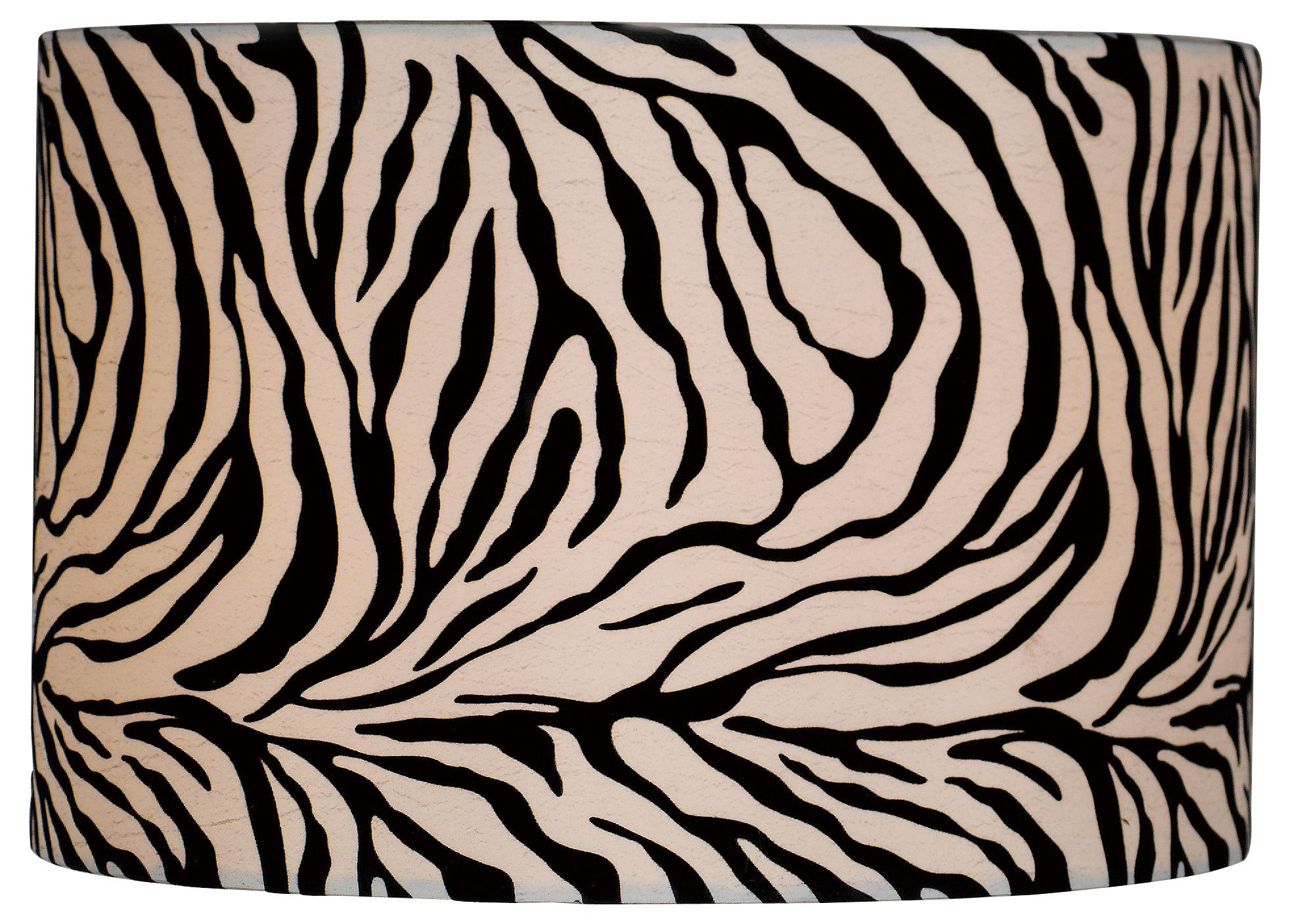 Colours Juno Black & White Zebra Print Light Shade (d)116mm