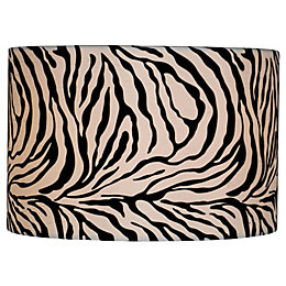 Colours Juno Black & White Zebra Print Light