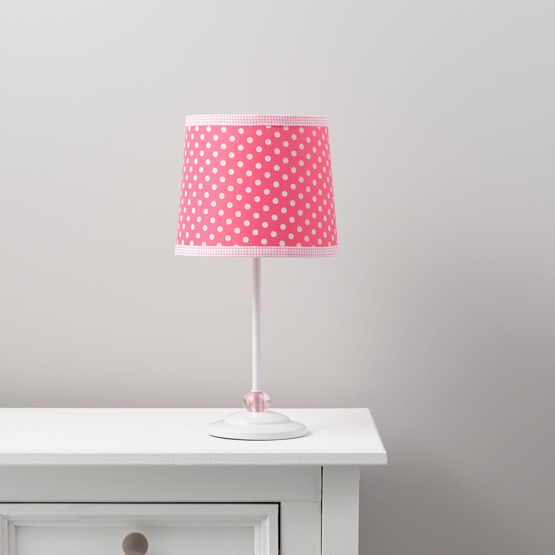 Suisei Polka Dot Pink & White Table Lamp