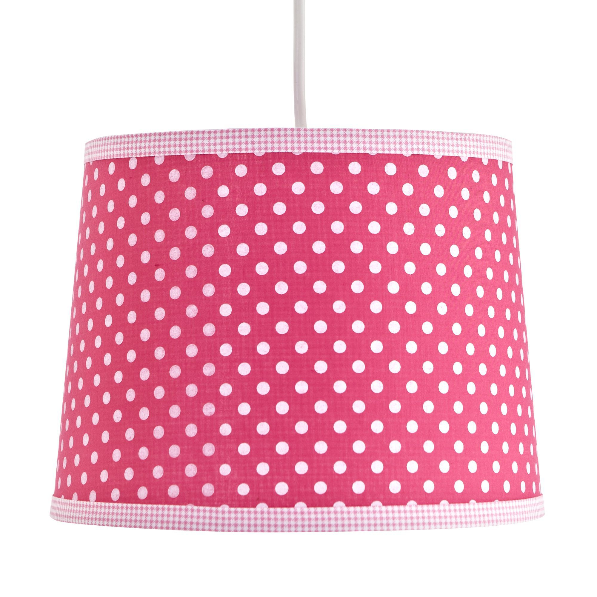 Colours Suisei Pink Polka Dot Light Shade D 26cm
