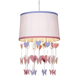 Colours Elara Powder Pink Butterfly Light Shade (D)30.5cm