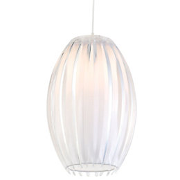 Colours Protea Clear Ribbed Light Shade (D)17.5cm