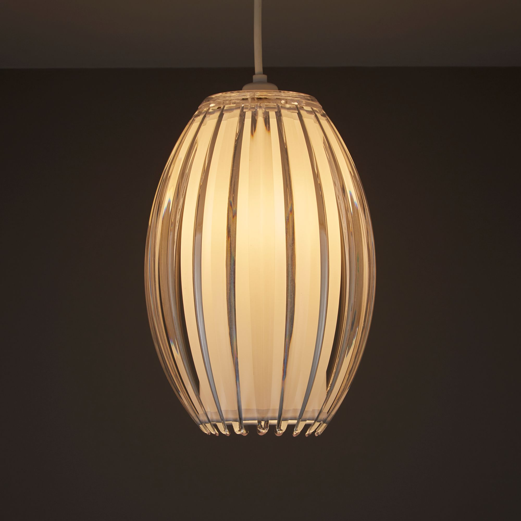 Colours Protea Clear Ribbed Light Shade (d)175mm