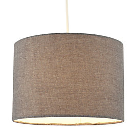 Colours Harstad Steel Grey Woven Light Shade