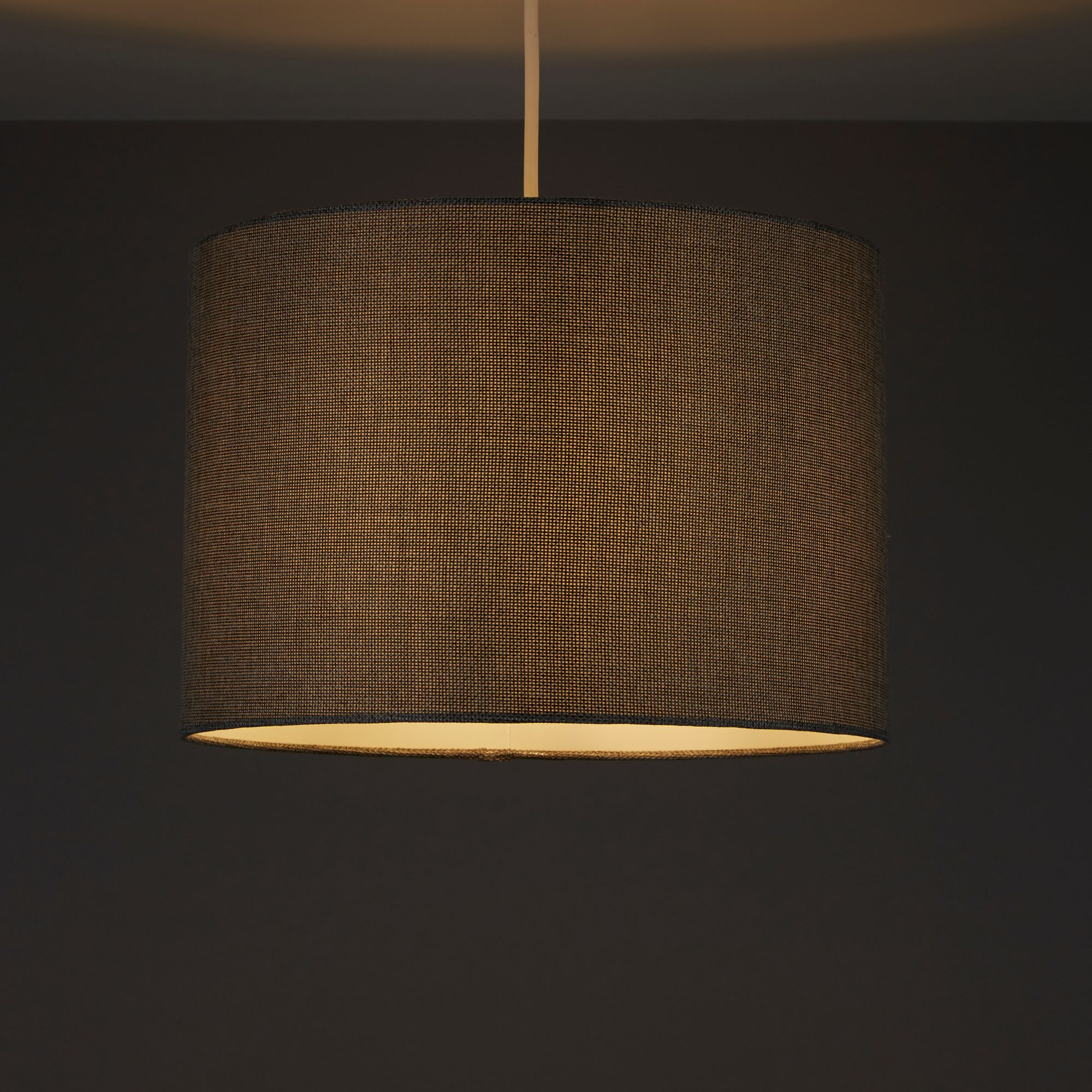 Colours Harstad Steel Grey Woven Light Shade