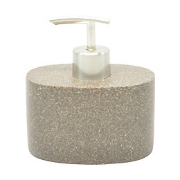 Cooke & Lewis Brown Stone Effect Soap Dispenser