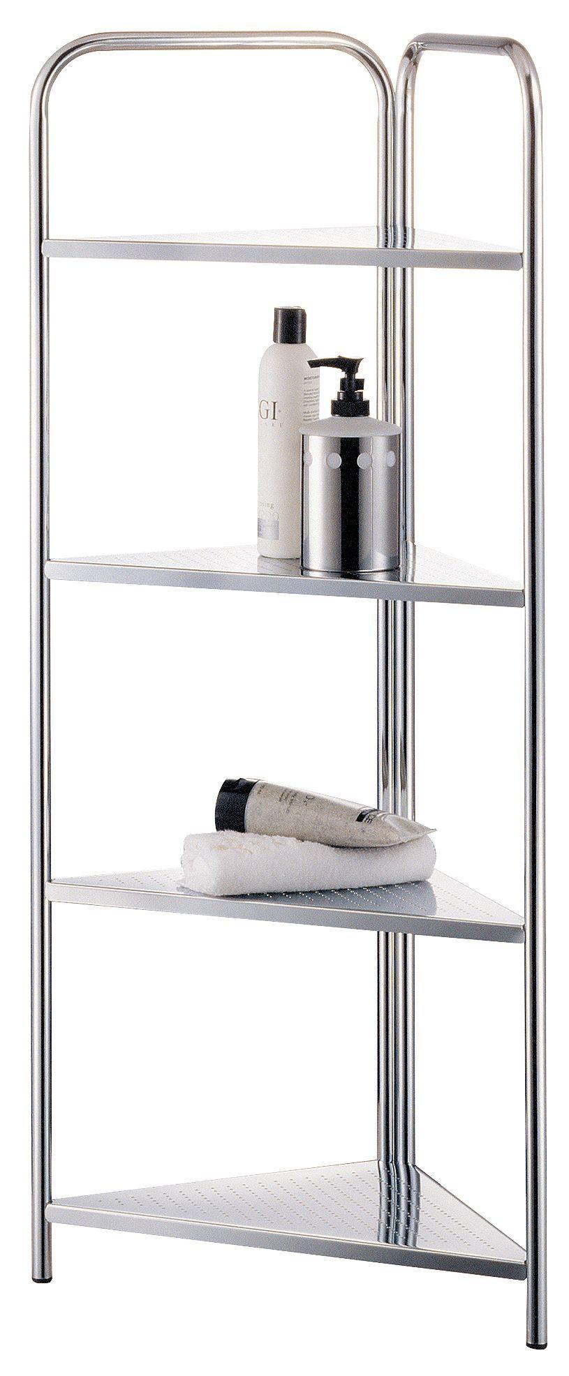 Cooke & Lewis Bank Silver Corner Shelving Unit (h)960mm (w)315mm
