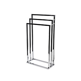 Cooke & Lewis Freestanding Chrome Effect Towel Rail