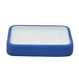 Cooke & Lewis Calliste Blue Rubber Effect Soap