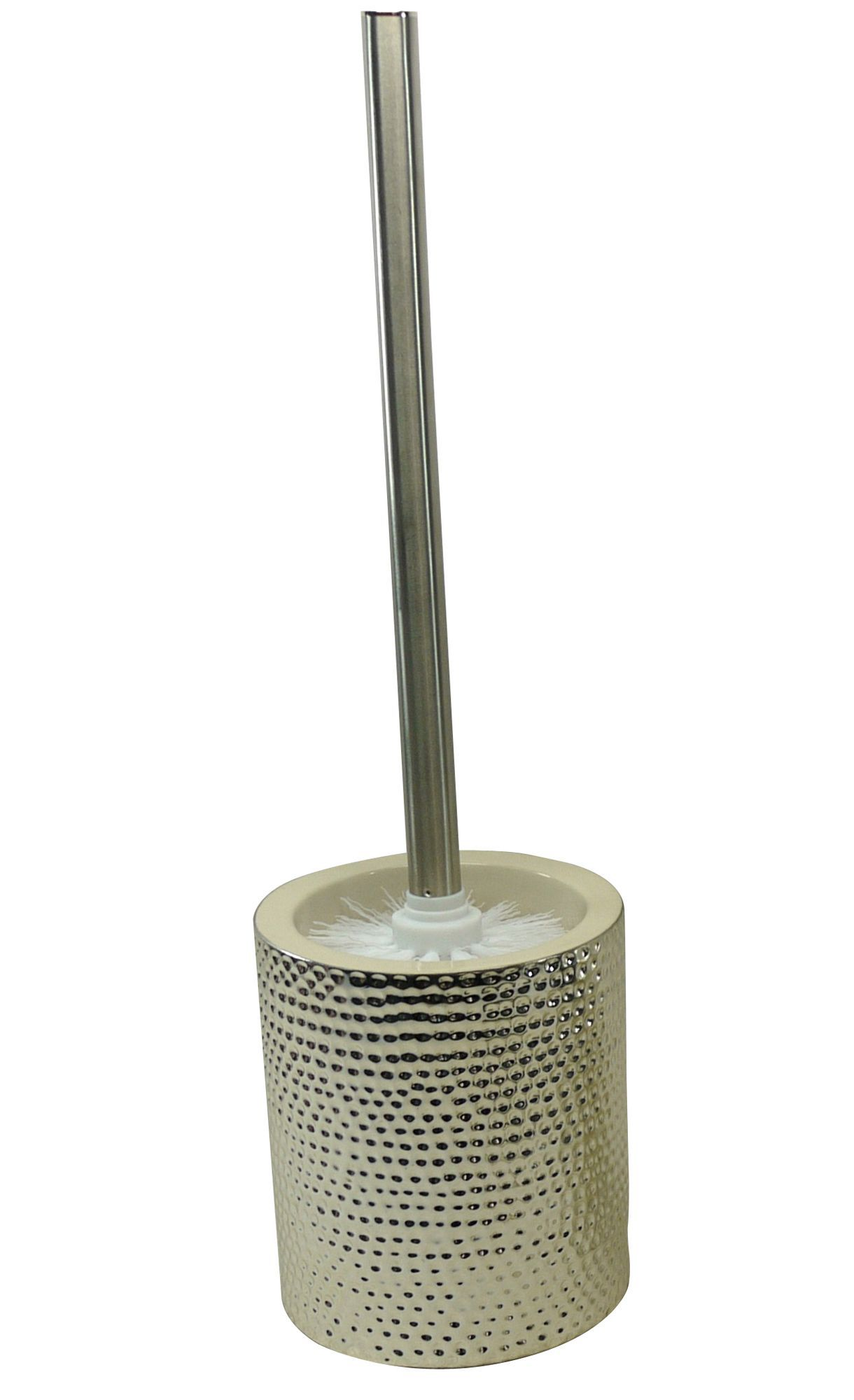 cooke lewis silver dimpled effect toilet brush holder departments diy at b q. Black Bedroom Furniture Sets. Home Design Ideas