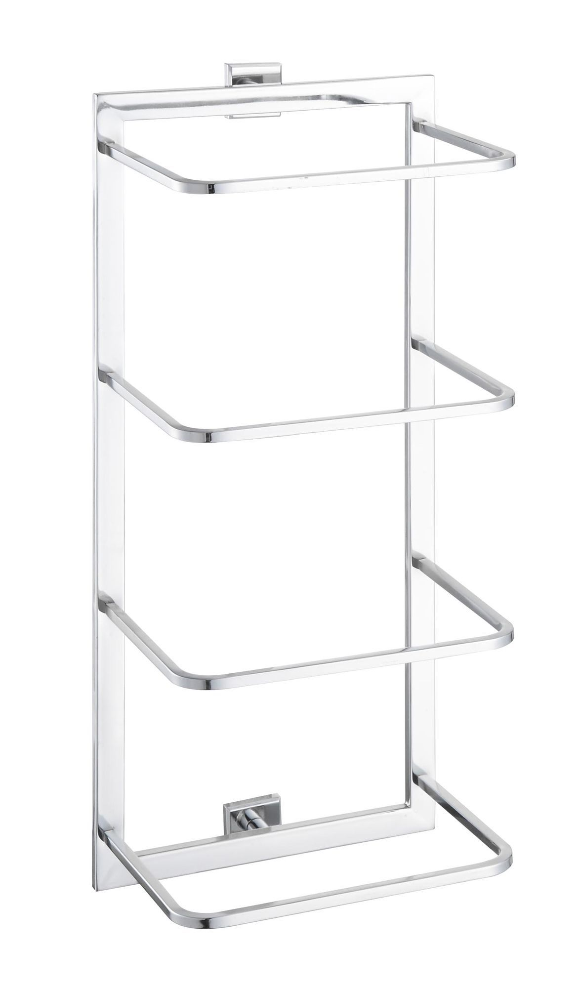 Cooke & Lewis Linear Chrome Effect Towel Holder, (w)245mm