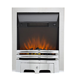 Westerly Chrome LED Electric Fire