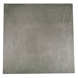 Cementina Anthracite Porcelain Floor Tile, Pack of 3,