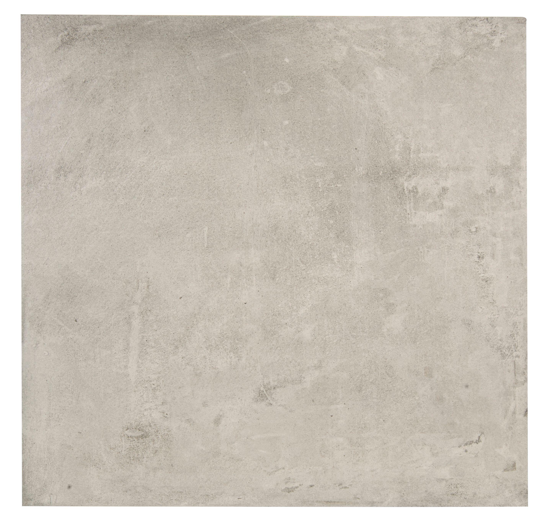 Cementina Grey Porcelain Floor Tile, Pack of 3, (L)600mm (W)600mm