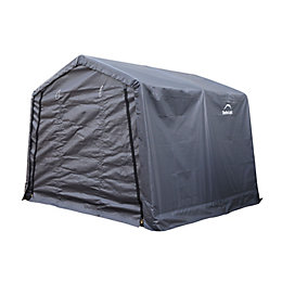 10X10 Shelterlogic Apex Polyethylene Metal Frame Shed
