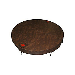 Canadian Spa Company Round Brown Spa Cover, (L)2030mm