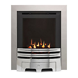 Westerly Glass Fronted Chrome Inset High Efficiency Multiflue