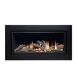 Ignite Pinnacle Black Remote Control Inset Gas Fire