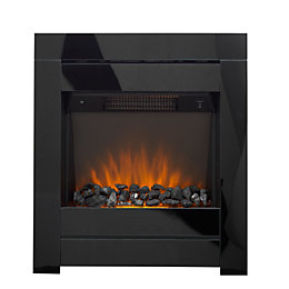 Cristal Black Glass LED Internal Electric Fire