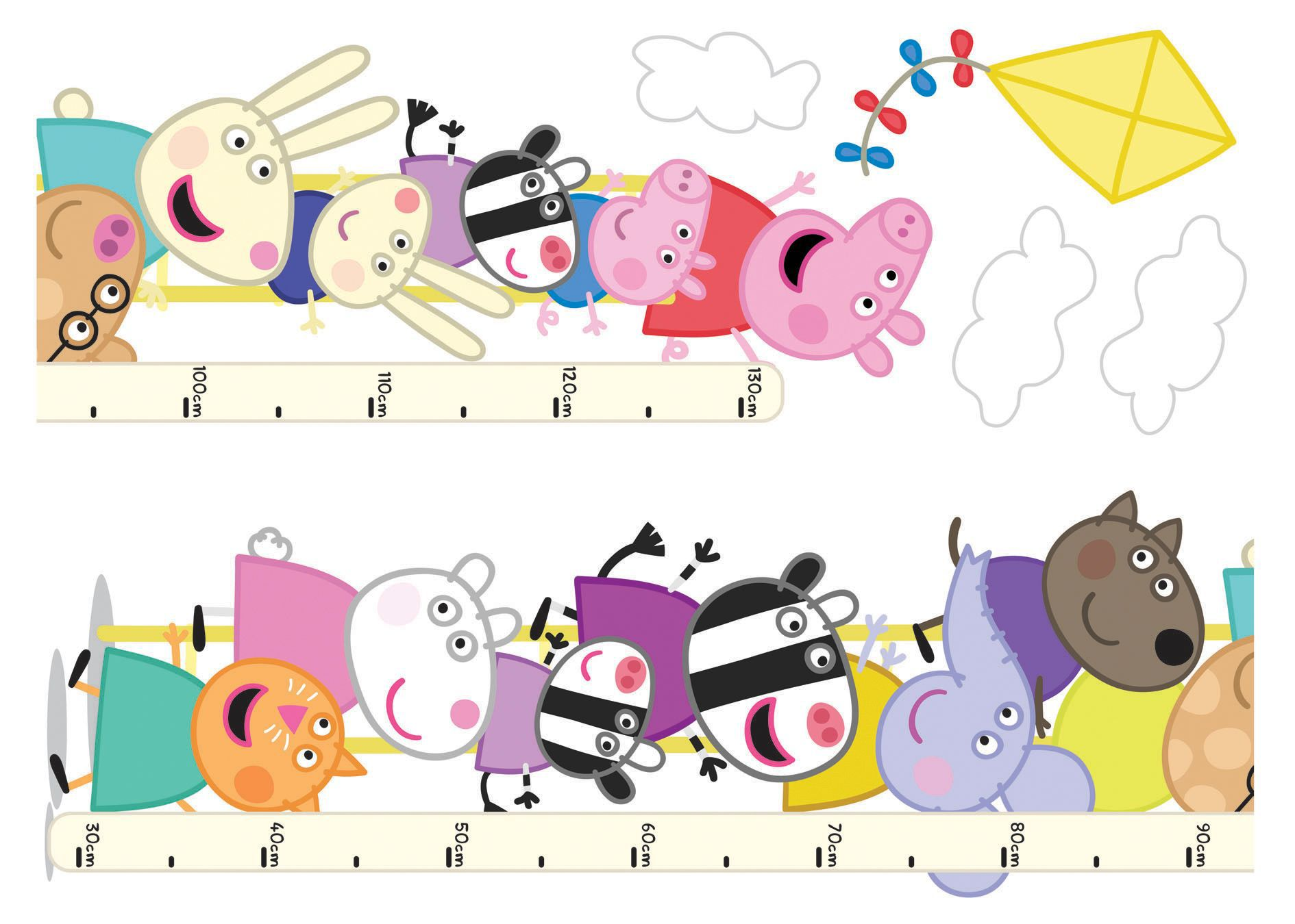 Peppa pig multicolour self adhesive wall sticker departments peppa pig multicolour self adhesive wall sticker departments diy at bq amipublicfo Images
