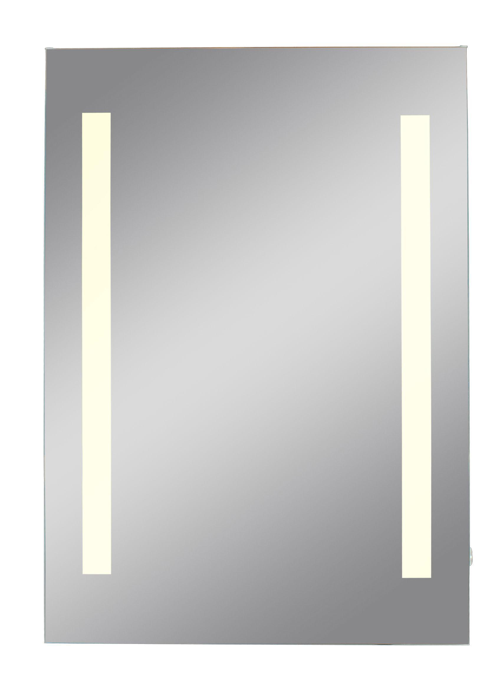 Lumino Escala Illuminated Bathroom Rectangular Mirror (w)450mm (h)650mm