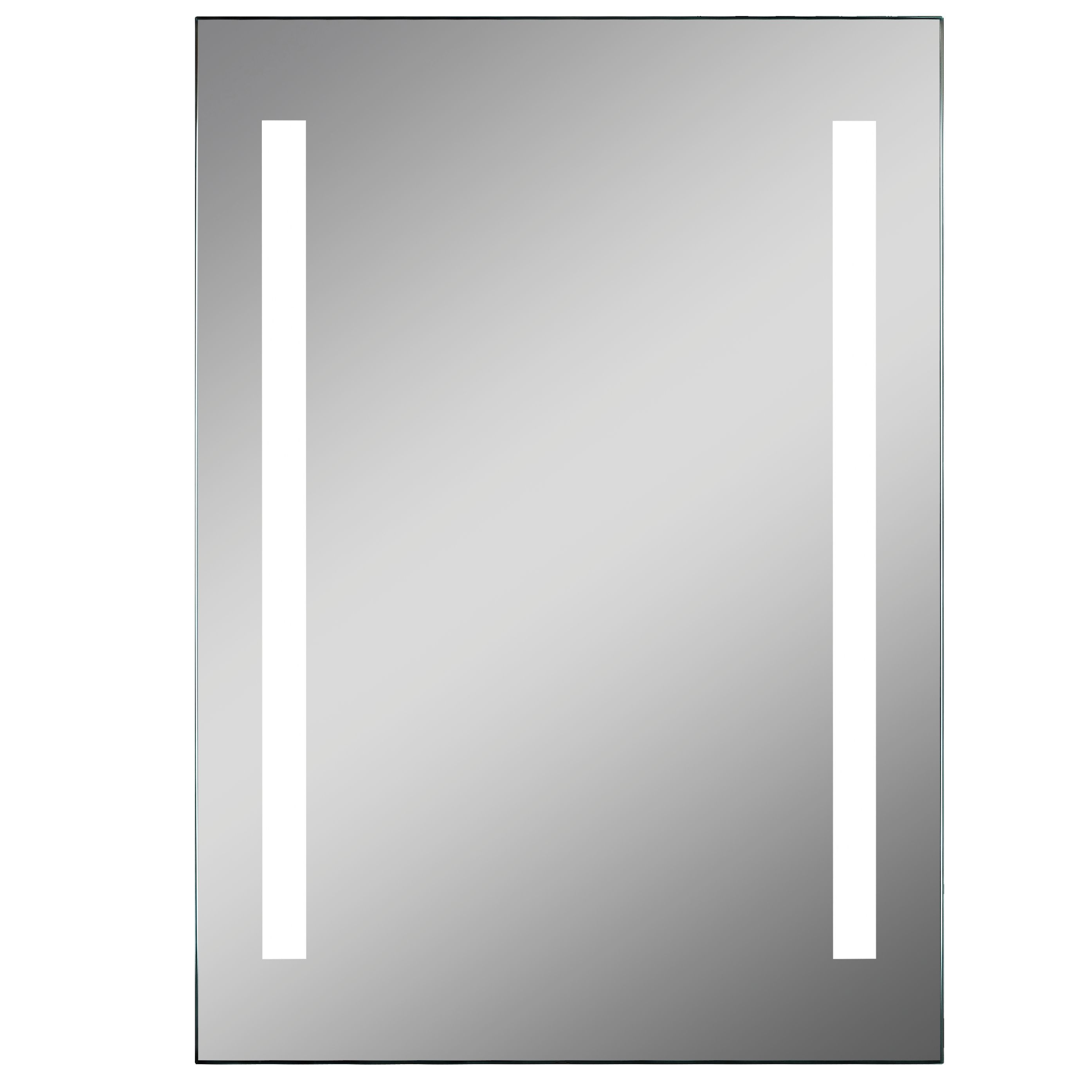 Lumino Pesanta Illuminated Bathroom Rectangular Mirror With Bluetooth Speakers (w)500mm (h)700mm