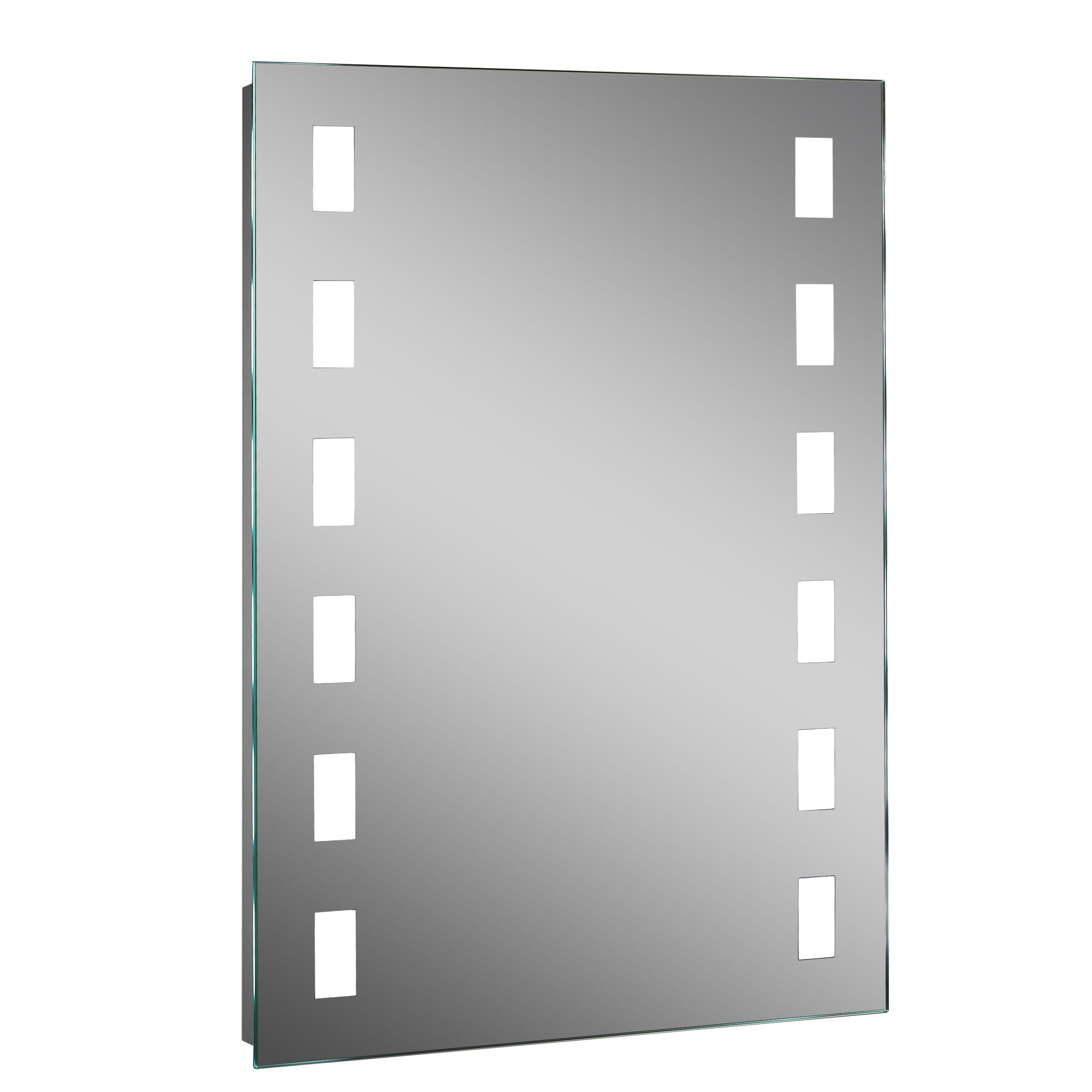 Lumino Altus Illuminated Bathroom Rectangular Mirror With Shaver Socket (w)500mm (h)700mm