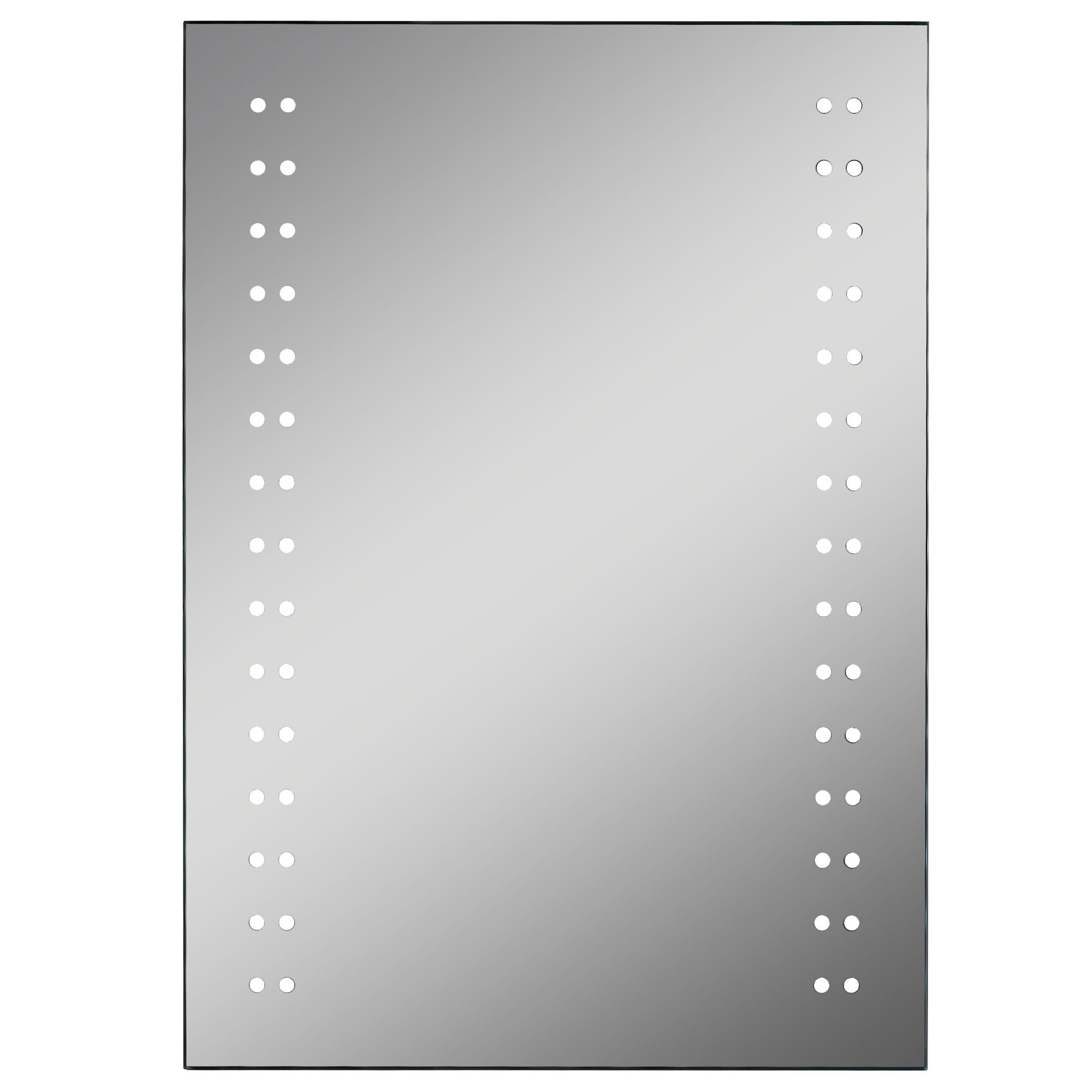 Lumino Aria Illuminated Bathroom Rectangular Mirror With Shaver Socket (w)500mm (h)700mm