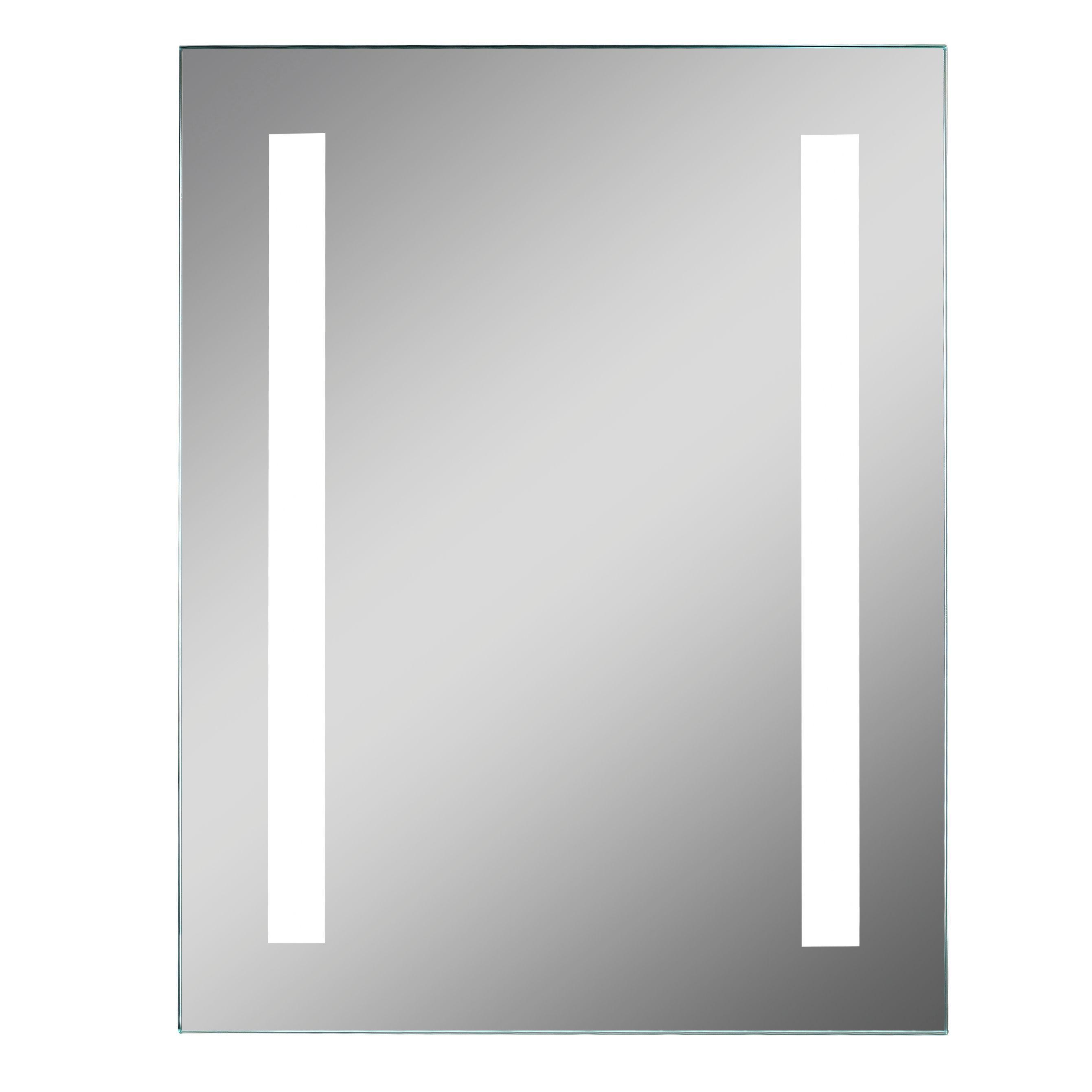 Lumino Clarino Illuminated Bathroom Rectangular Mirror With Shaver Socket (w)390mm (h)500mm