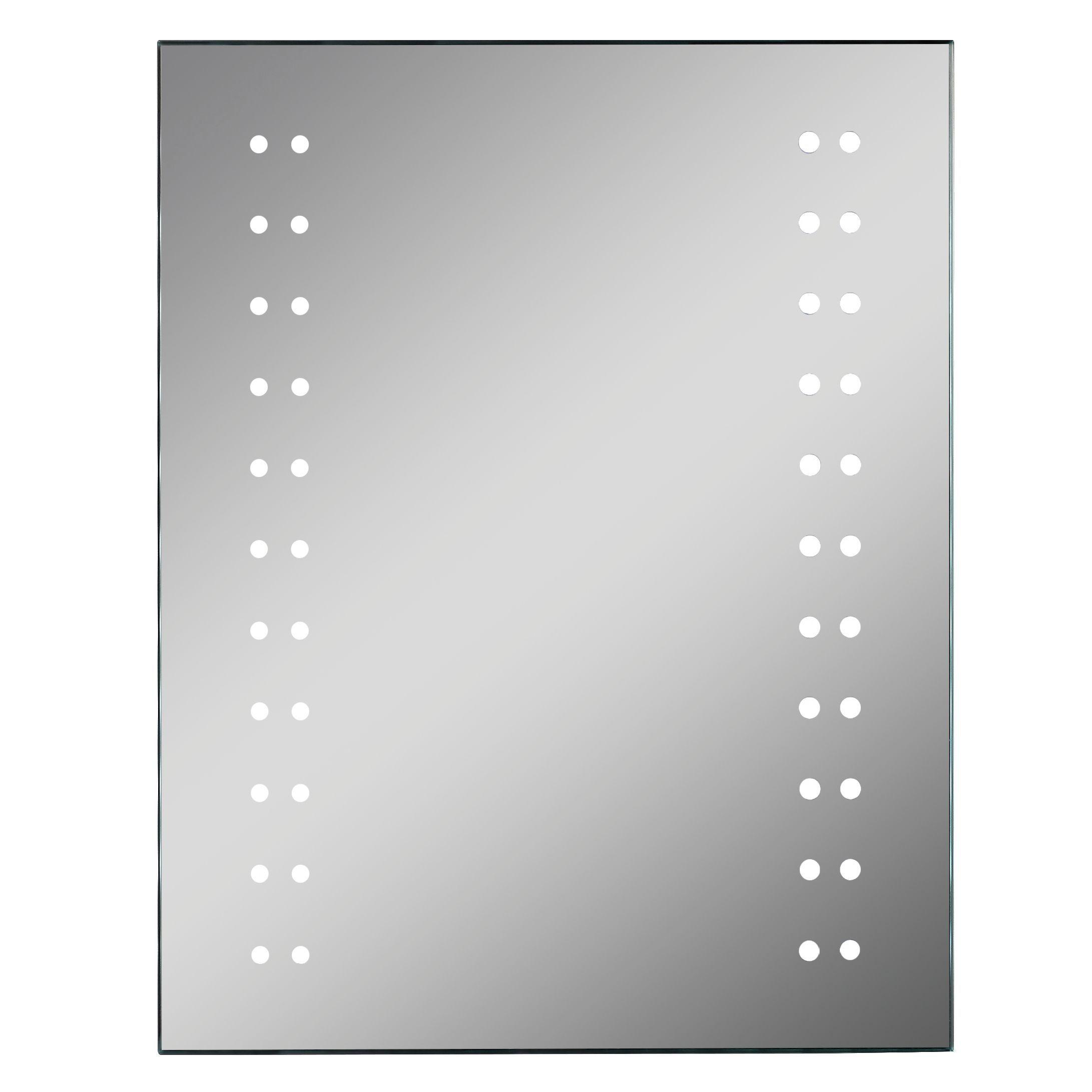Lumino Molto Illuminated Bathroom Rectangular Mirror With Shaver Socket (w)390mm (h)500mm