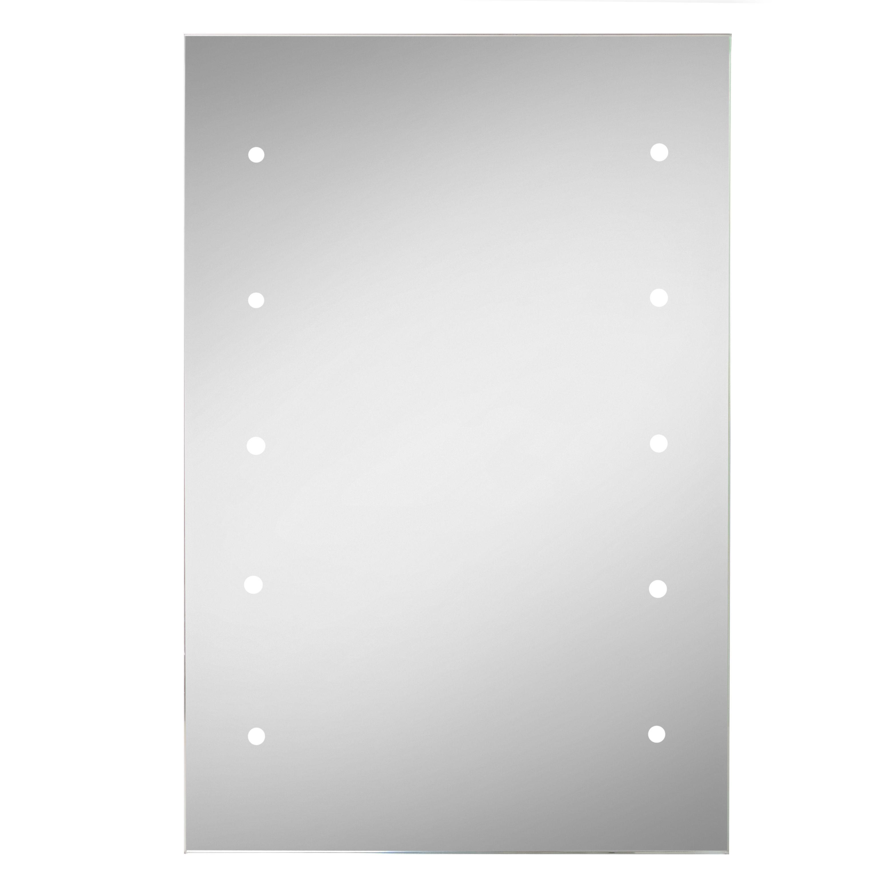 Lumino Lesto Illuminated Bathroom Rectangular Battery Powered Mirror (w)300mm (h)450mm