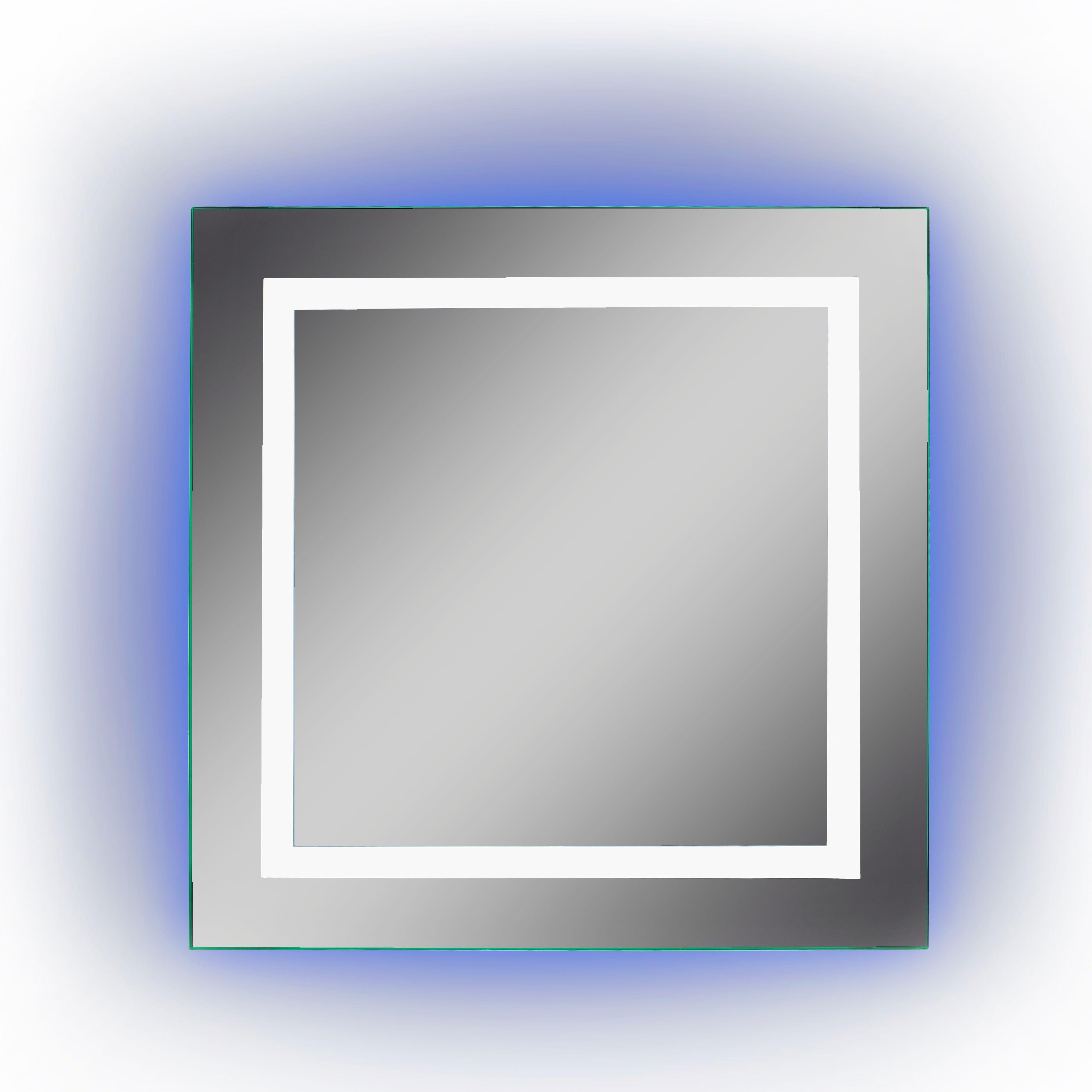 Lumino Calando Illuminated Bathroom Square Colour Changing Mirror (w)600mm (h)600mm