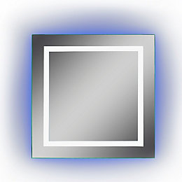 Lumino Calando Illuminated Bathroom Square Colour Changing Mirror