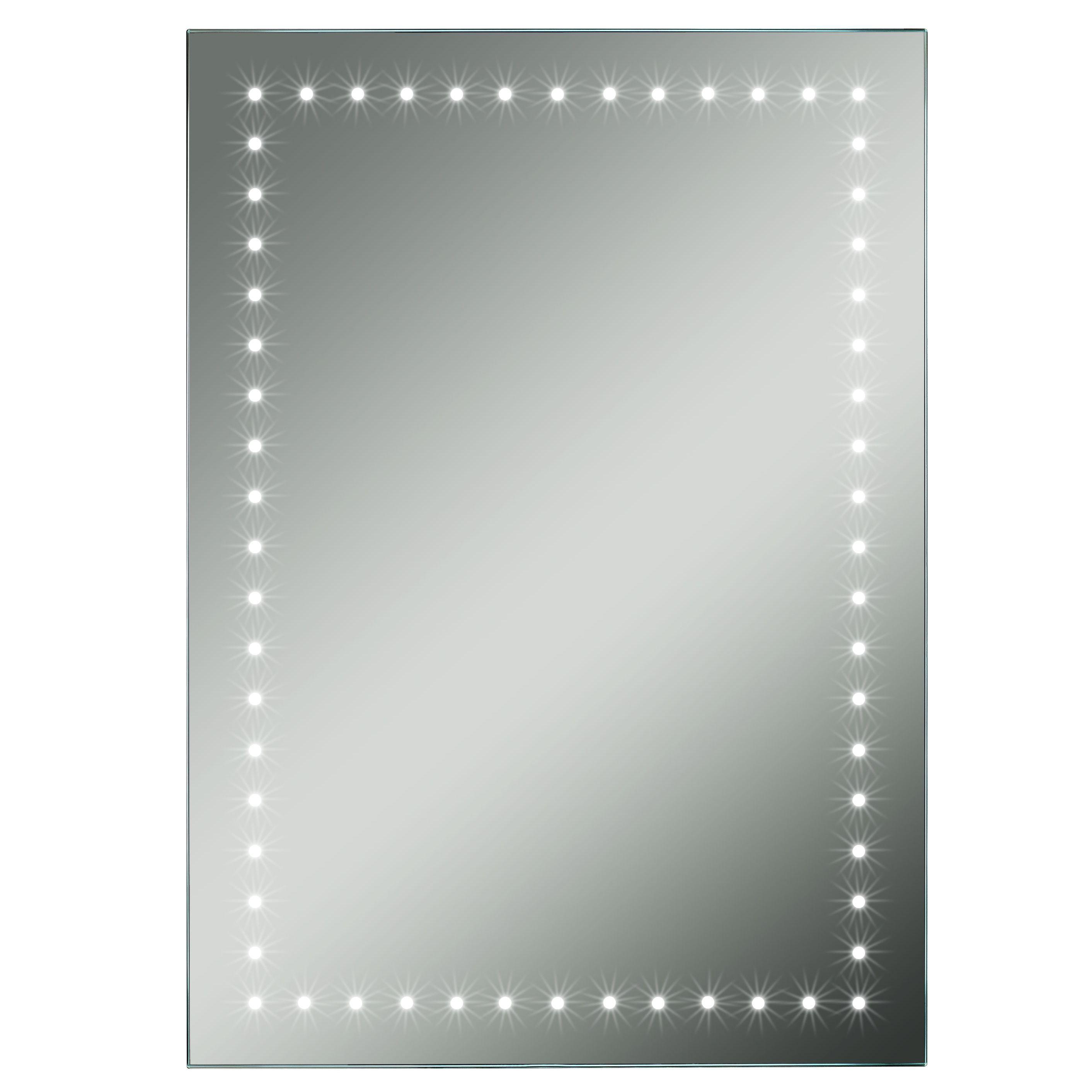 Lumino forza illuminated bathroom rectangular mirror with for B q bathroom mirrors