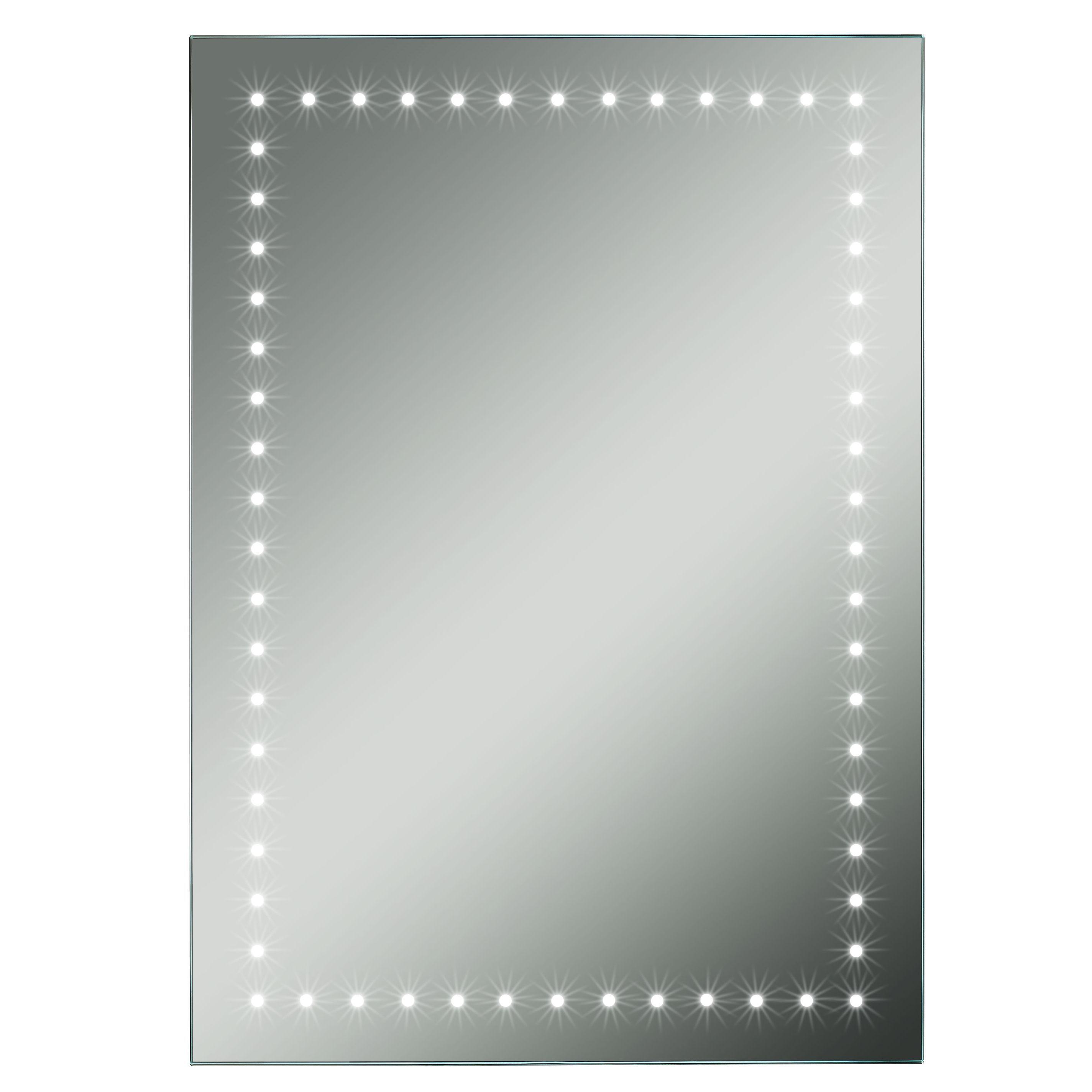 Lumino Forza Illuminated Bathroom Rectangular Mirror With Bluetooth Speakers (w)500mm (h)700mm