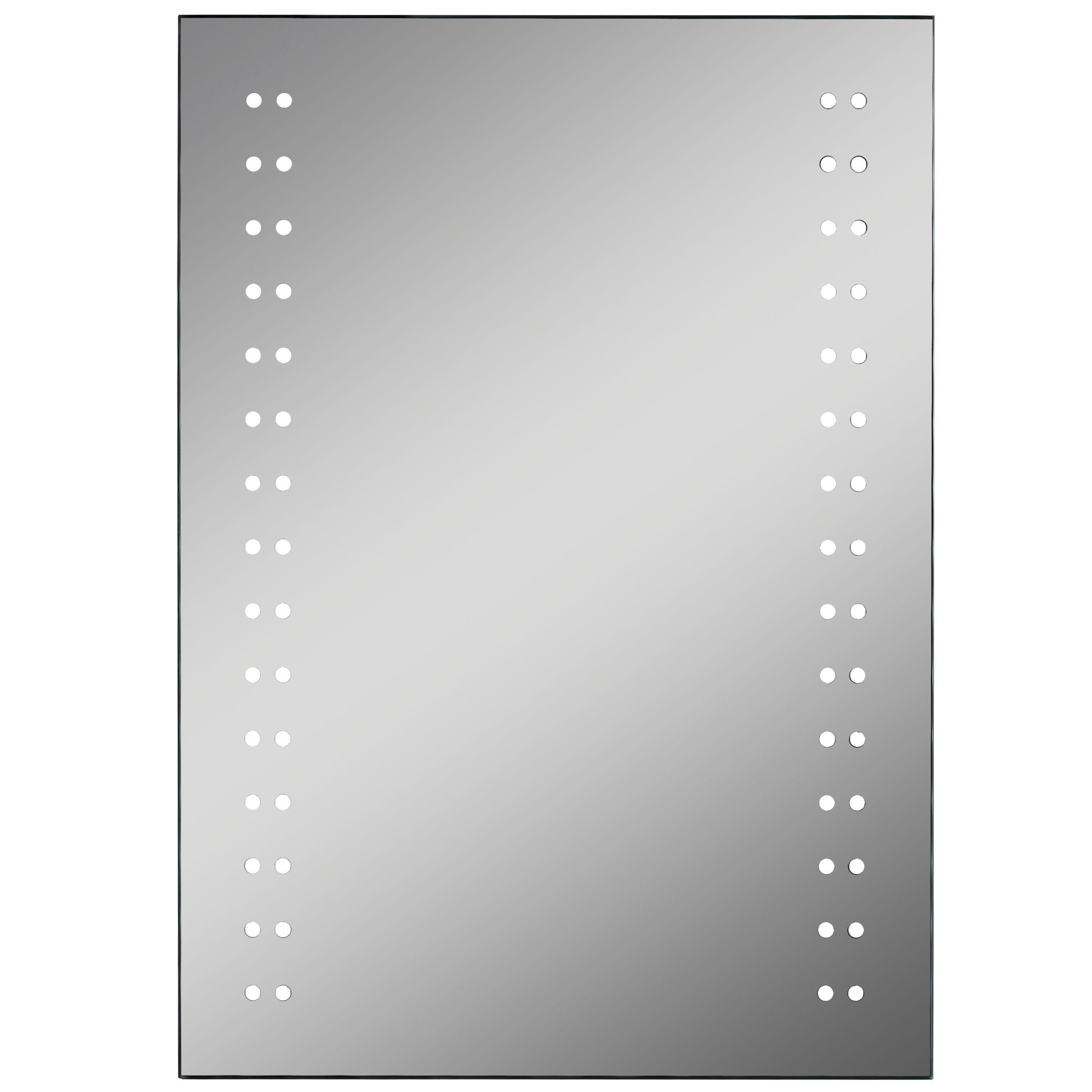 Lumino Aria Illuminated Bathroom Rectangular Mirror With Bluetooth Speakers (w)500mm (h)700mm