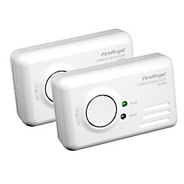 FireAngel LED Display Carbon Monoxide Detector, Pack of