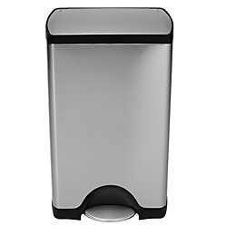 simplehuman Fingerprint-Proof Silver Stainless Steel Rectangular