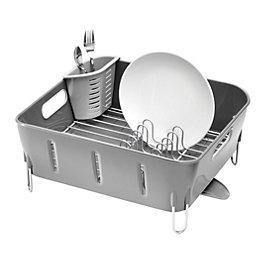 simplehuman Grey Square Compact Dish Rack