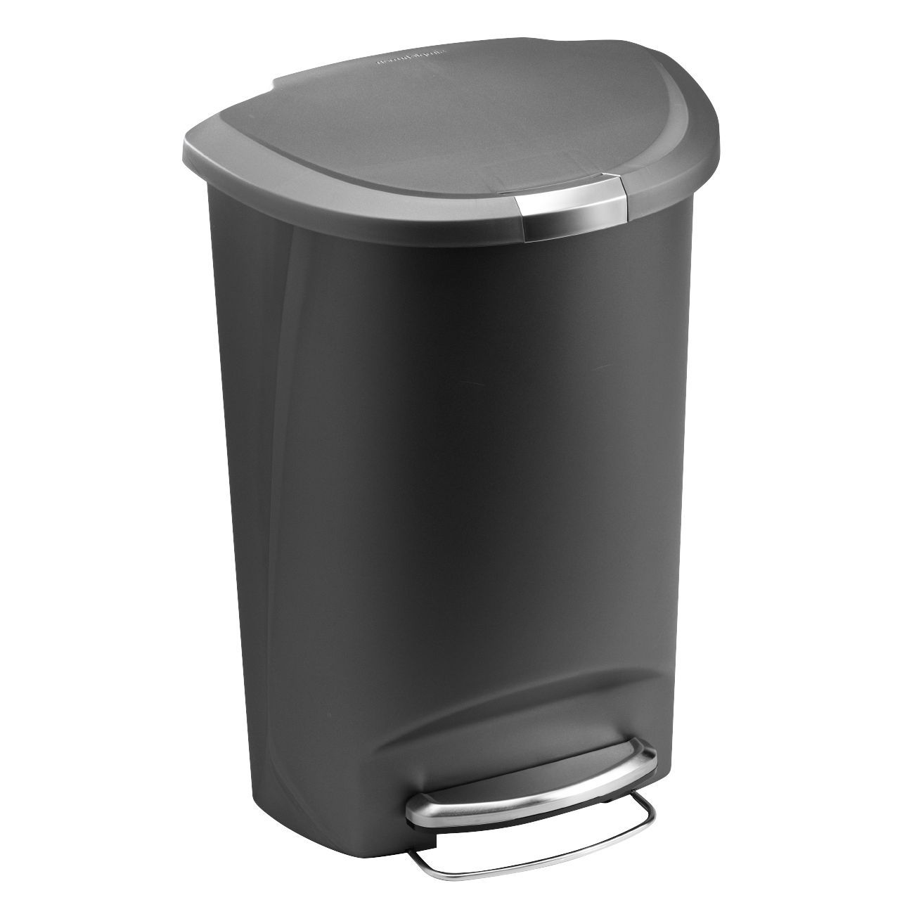 poubelle simplehuman 50 l simplehuman plastic semi round 50 liter step on trash can. Black Bedroom Furniture Sets. Home Design Ideas
