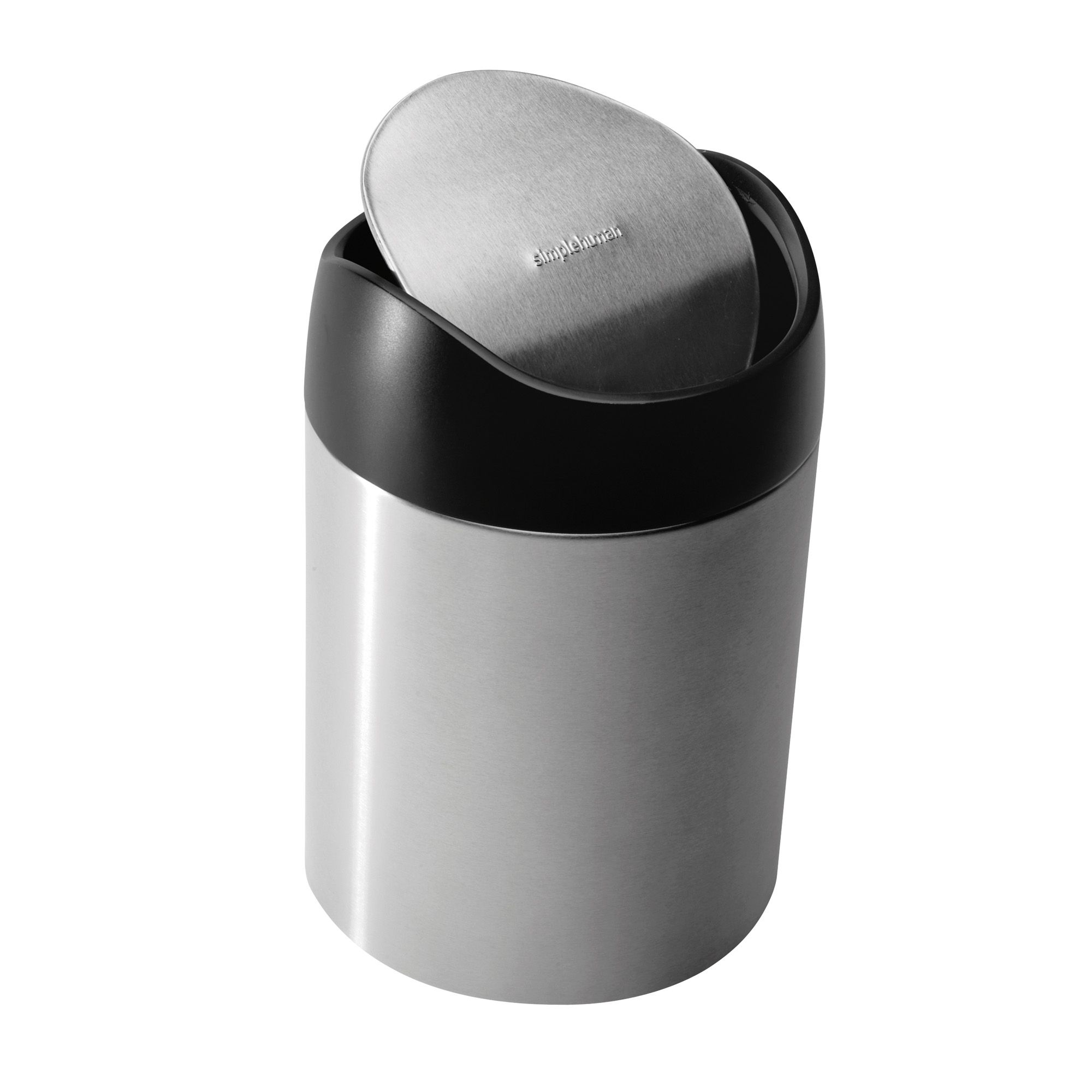 Simplehuman Stainless Steel Round Table Top Bin